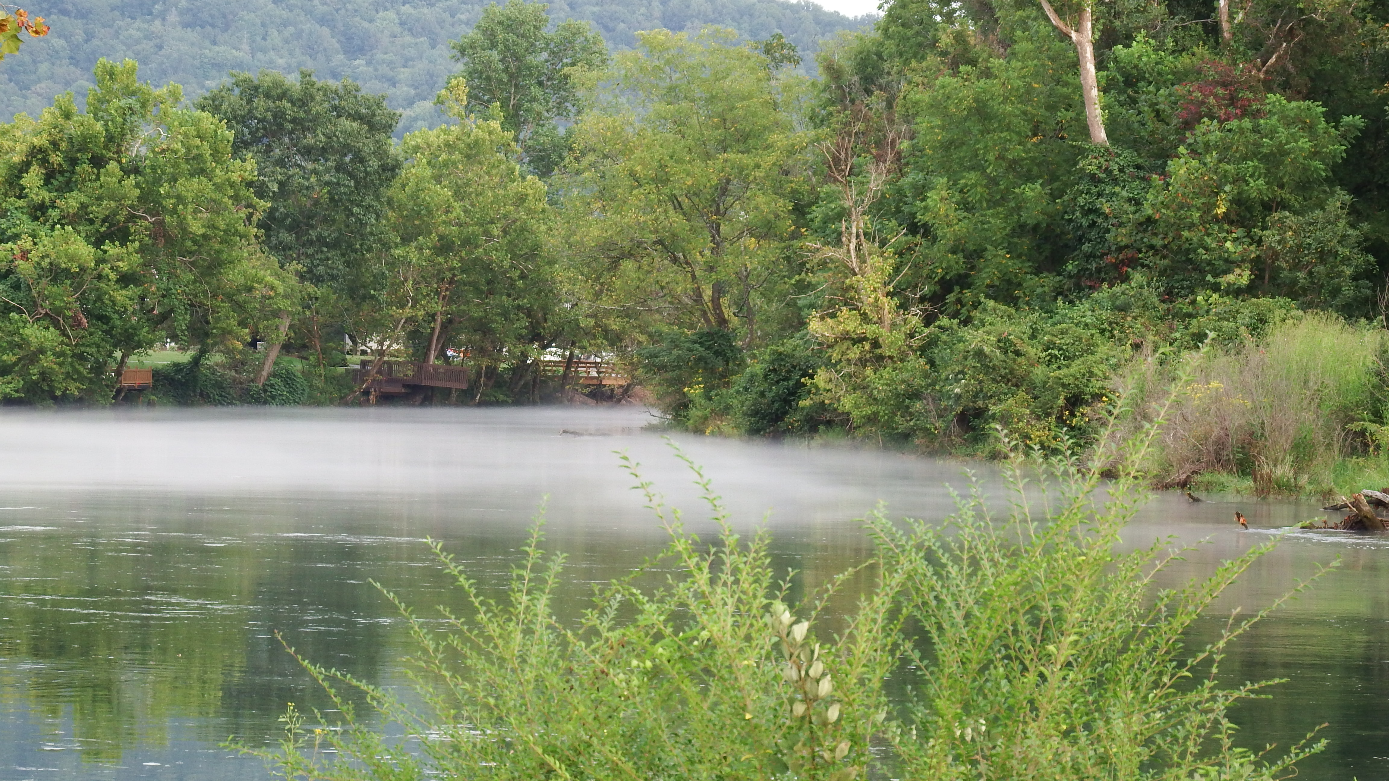 beautiful smoke on the water Watauga river
