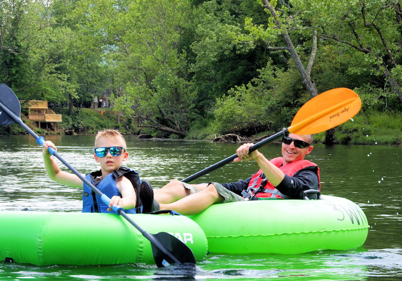 family guided tubing