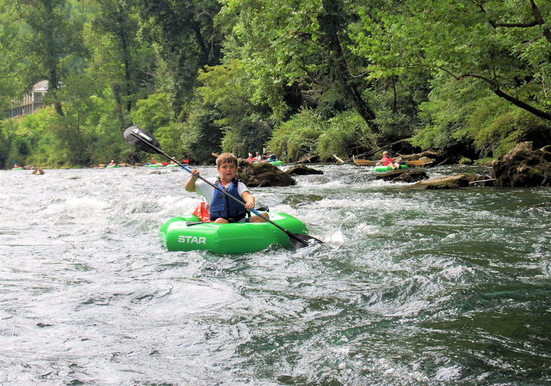 Jack on a Guided River Tube